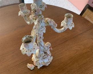 Meissen candelabra for repair-$50