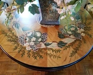 Painted surface for round pedestal table.