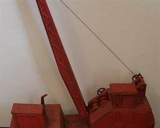 Vintage toy crane