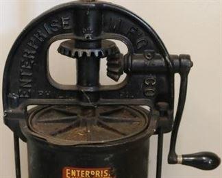 Cast iron sausage stuffer