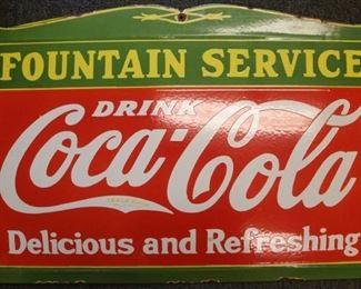 Coke Fountain Service sign