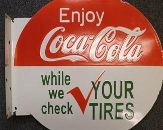 Coca-Cola flange sign