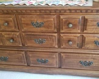 """Dresser solid heavy wood 65"""" across and 20"""" wide $50"""