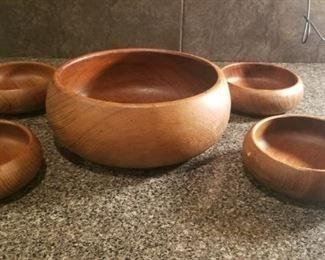 salad bowl wooden set $20