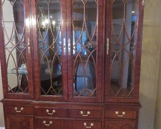 Federal Style Breakfront China Cabinet Thomasville Furniture Company