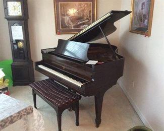 Christmas New York Studio Baby Grand Piano