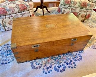 English 19th Century camphor wood trunk (1 available)