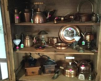 Vintage copper collection
