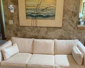 Sofa, large wheat painting