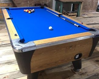 Fantastic pool table with new felt.