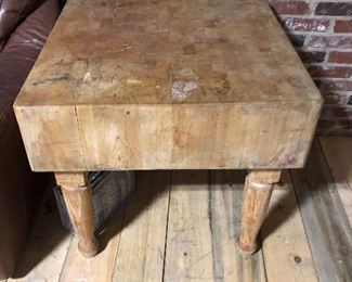 Very old antique butcher block