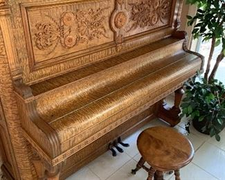 Tiger Oak piano