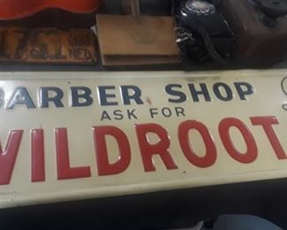 Old Wildroot Barber Shop Sign