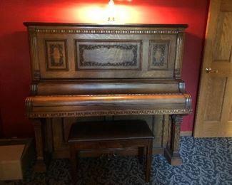 Antique Harrington Upright Piano , Excellent Condition $1,500.00  Buy it now!!!