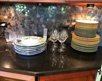 Assorted Dinnerware - Pier One, Glassware