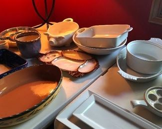 White Tableware, Pottery