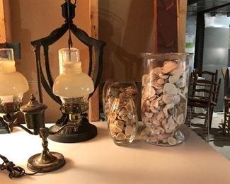 Shells, Vintage Lamps