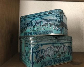 Antique pipe tobacco tins