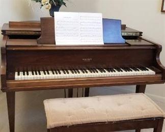Beautiful Whitney Baby Grand Piano
