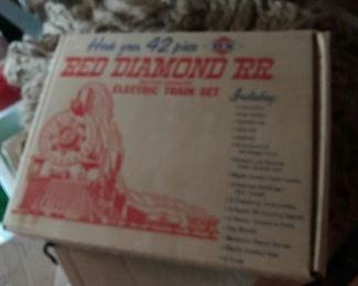 Vintage Red Diamond RR Set $ 46.00