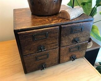 Antique Library Card Drawer $ 54.00
