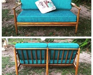 DUX two-seater mid century couch with new upholstery