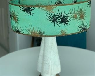Midcentury lamp with original shade