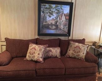 Sofa - there are two of these, painting