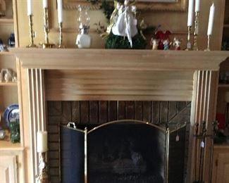 Brass, fire place set