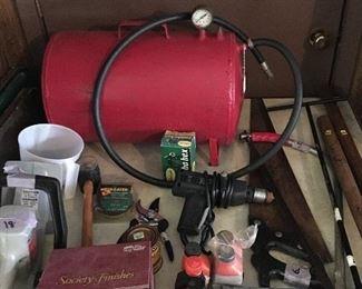 Air compressor, tools