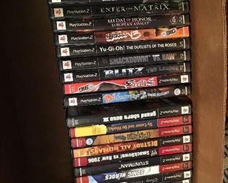 PlayStation 2 & x-box games