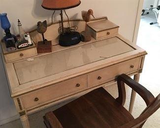 Desk, office chair