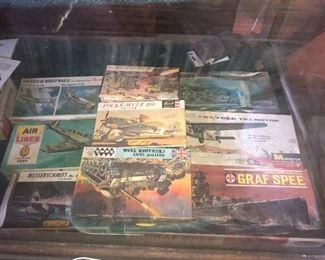 Vintage 1950s military model kits