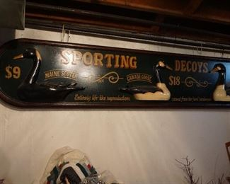 old duck decoy wood sign