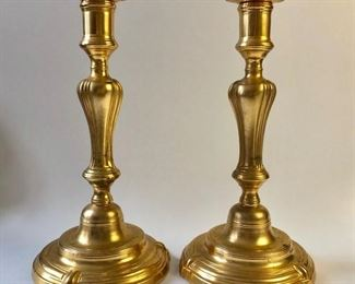 ANTIQUE 18TH CENTURY ORMOLU CANDLESTICKS LOUIS XV