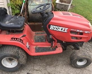 . . . a Huskee tractor -- deck available