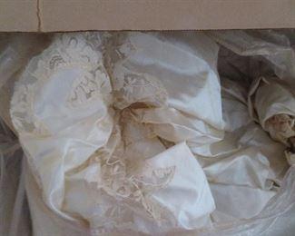 Beautiful old wedding dress.