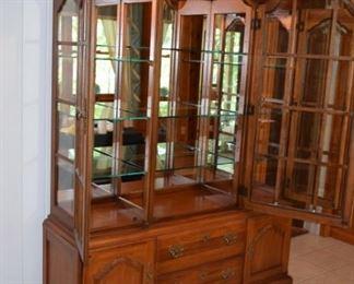 Mirrored Back, Glass Shelves