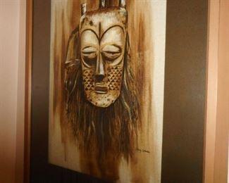 Mask Print. Henry Valentine.
