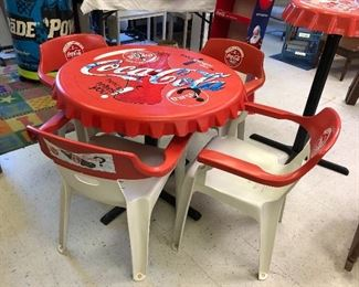 1996 Atlanta Olympic Coke table and chair set