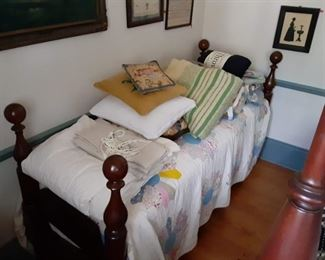 Cannonball antique bed 1800s