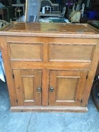 EARLY PINE PRIMITIVE ICE BOX $ 250.00 FIRM
