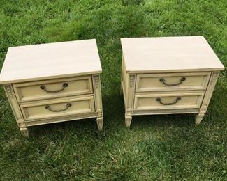 STANLEY ORIGINAL PAINTED NIGHT STANDS, WOULD BE GREAT FOR END TABLES TOO $ 200.00