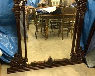 LARGE FANCY MIRROR $ 150.00 REDUCED 50% OFF