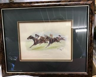SIGNED RACE HORSE PICTURES