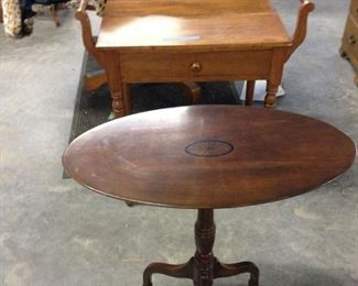 FLIP TOP TABLE WALNUT  INLAID TABLE 125.00