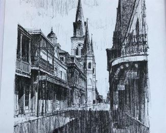 CHARTRES  STREET, BY DAN DAVEY CIRCA 1966