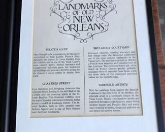 WRITE UP ON THE COLLECTION OF THE FAMOUS ARTIST OF NEW ORLEANS, DAN DAVEY, CIRCA 1966