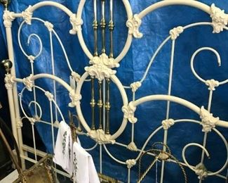 IRON AND BRASS BED $ 350.00