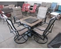 Patio Furniture Fire Pit Table and Chairs